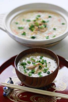 参鶏湯(サムゲタン)風の七草粥1