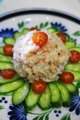 里芋と明太子のタラモサラダ