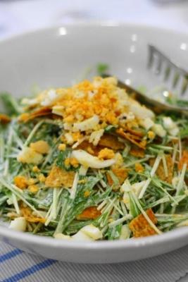 水菜のメキシカンミモザサラダ