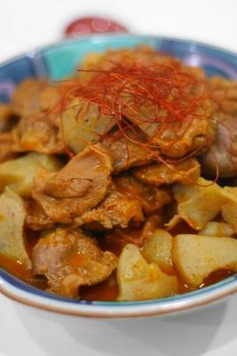 砂肝とこんにゃくの韓流ピリ辛煮