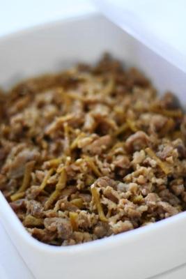 うちの常備菜、生姜豚