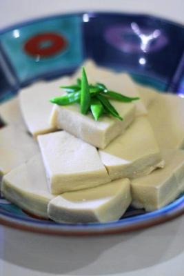高野豆腐の豆乳煮1