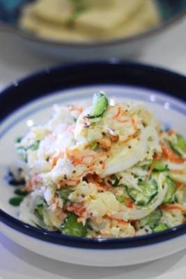 長芋と新玉ねぎのポテトサラダ風1