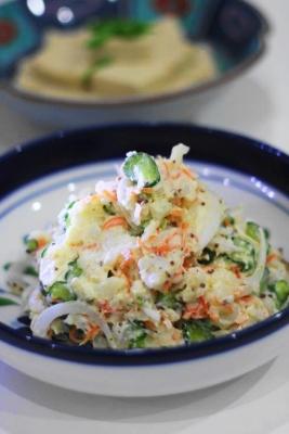 長芋と新玉ねぎのポテトサラダ風2