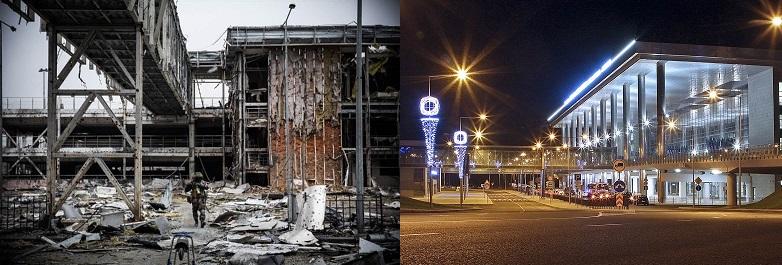 廃墟と化したドネツク空港