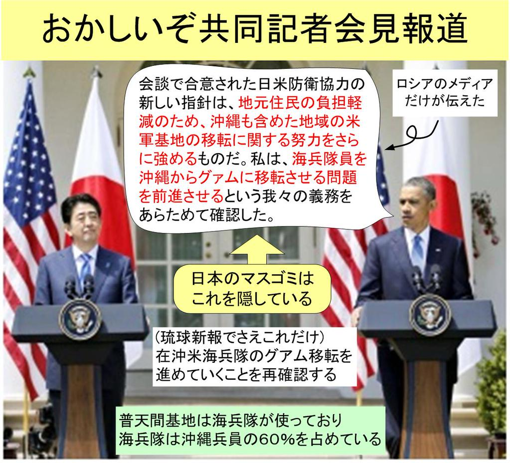 日米共同会見のびっくり