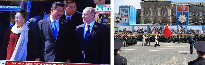 プーチン大統領の隣が習近平国家主席