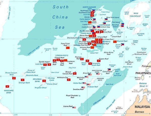南沙諸島の実効支配の状況