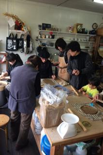 新春陶芸教室