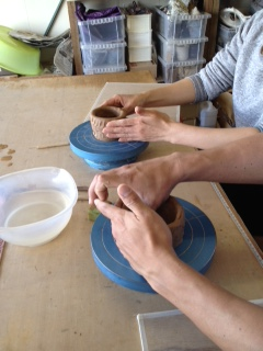 夫婦茶碗作り
