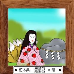 9栃木県 玉藻前・殺生石×イチゴ
