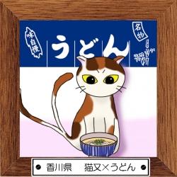 37香川県 猫又×うどん