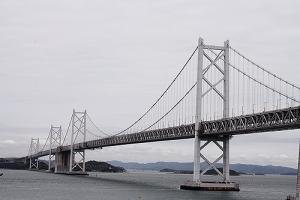瀬戸大橋と桜9