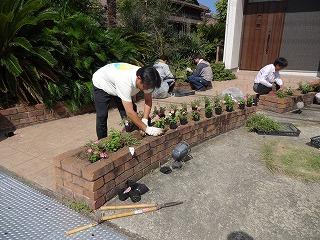 岸和田市大町のお花植え02