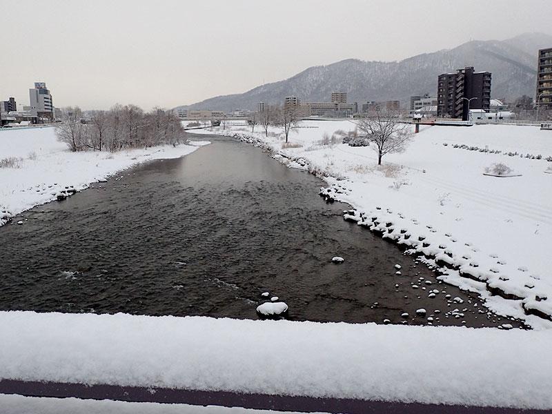 豊平川(幌平橋より)