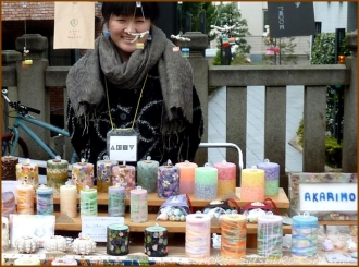20150317 蝋燭  手創り市