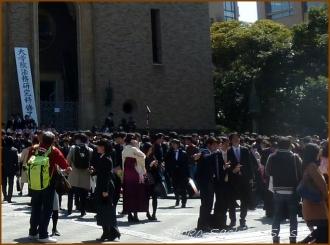 20150326 大隈講堂前 2  卒業式