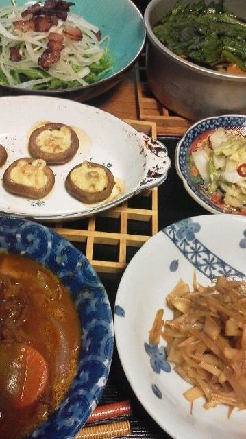 1・22夕食(あとは豚汁)