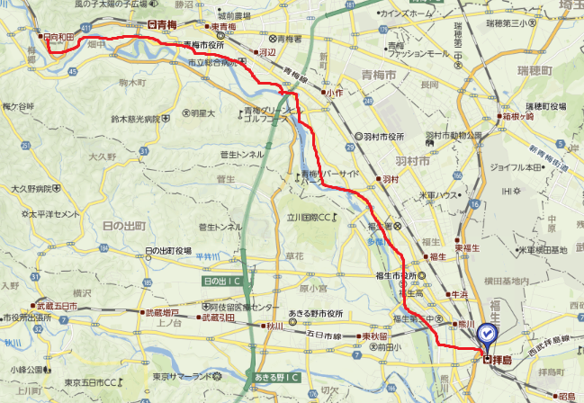 地図拝島日向和田