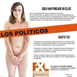 スペインの女性政治家が市長選挙のポスターで全裸ヌードに
