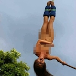 香港の10代女性モデルがタイで全裸でバンジージャンプをして運営側が罰金