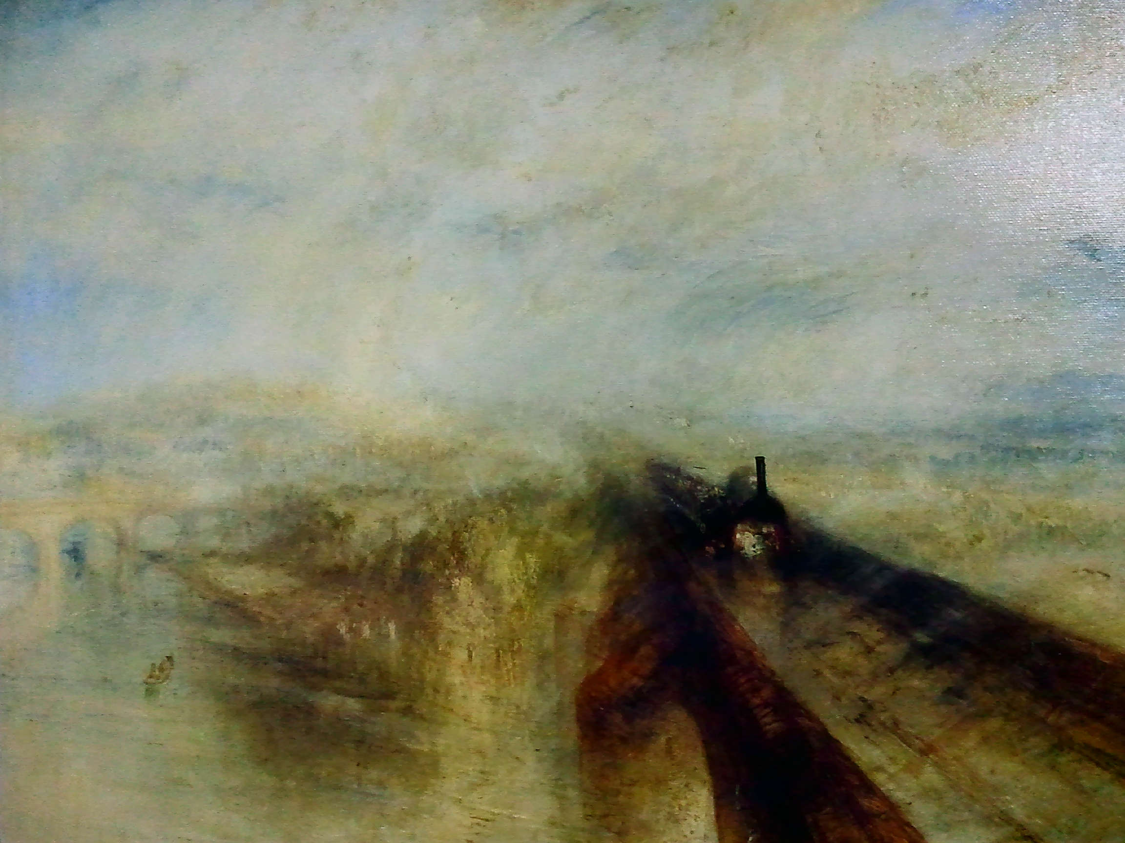 ウィリアム・ターナー 雨、蒸気、スピード-グレート・ウェスタン鉄道 アクリル外し