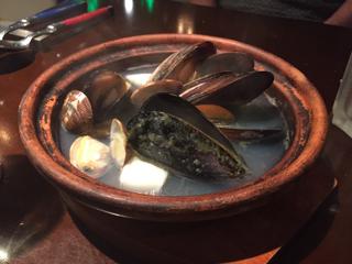 本日の貝の香草ワイン蒸し