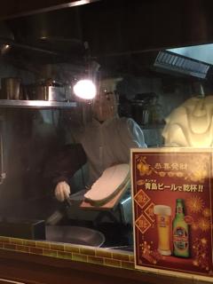 刀削麺製作人形