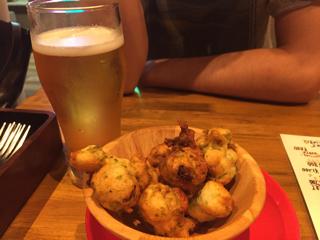 ビールとゼッポリーニ