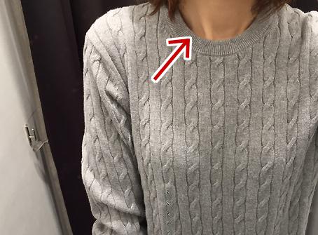 コットンカシミヤセーターの肌触りは良いです
