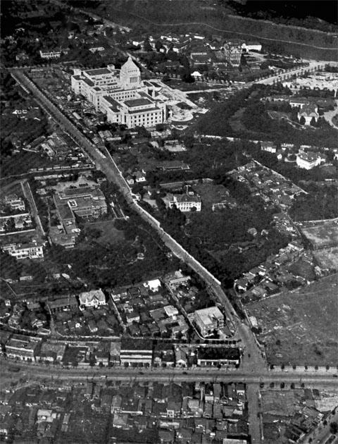 新議事堂を望む1933jul
