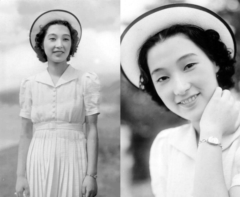 純情二重奏の高峰三枝子1939