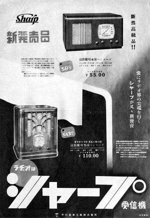 ラヂオはシャープ受信機1937mar