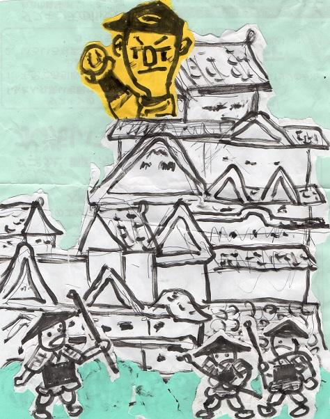 白鷺城と黒田博樹