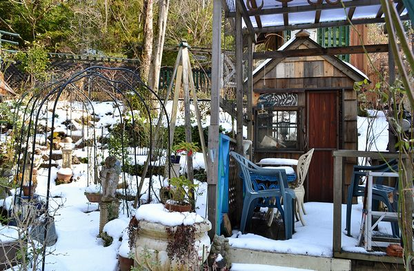 1,3雪の庭ー7