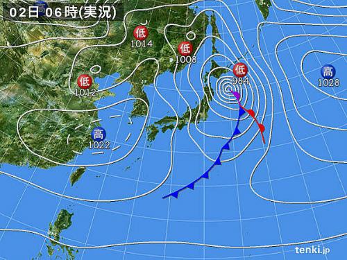 本日の天気図