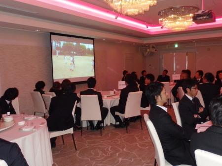 P2011212ビデオによる友志リーグ各チームの紹介