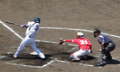 P52131691回裏熊本福田が右中間2点二塁打