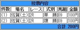 20150613 佐賀2R 3歳 シゲルドンタク