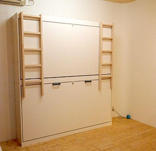 壁収納デスクベッド15