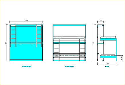 壁収納デスクベッド18