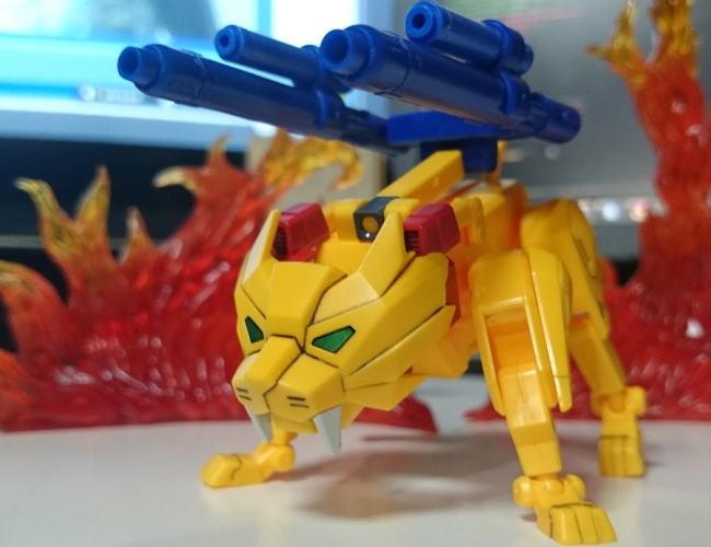 胸にライオン5