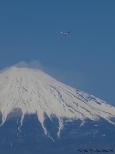 新春の富士とグライダー