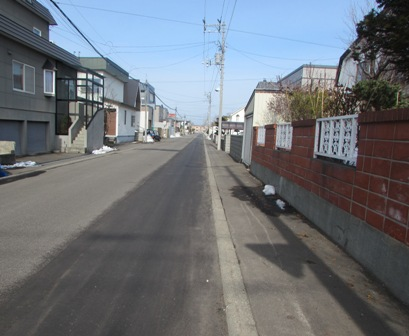 冬の間お散歩した住宅街