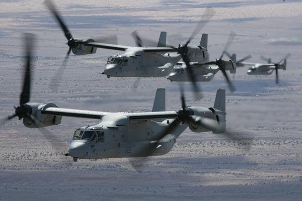 ハワイのベローズ米空軍基地にてオスプレイが墜落