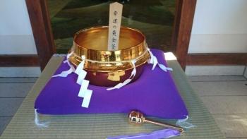 真岡市大前神社金の茶釜
