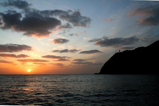 ④蓋井島夕景