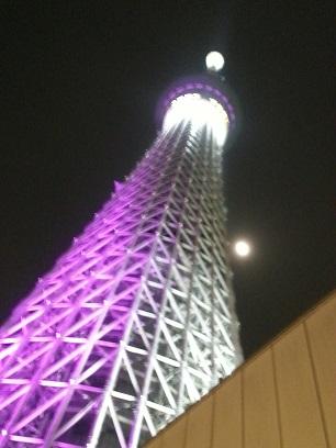 東京スカイツリーとお月さま