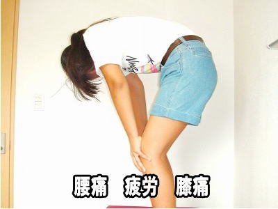 腰痛 膝 疲労