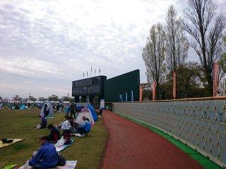 s土浦競技場到着